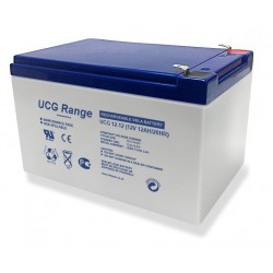 Ultracell UCG12-12 12Volts 12Ah (20hr) deep cycle gel lead accid battery accu VRLA 151x99x100mm