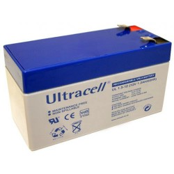 Ultracell UL1.3-12 12Volts 1,3Ah/1,2Ah (20hr) lead acid battery accu VRLA VdS 97x43x58mm