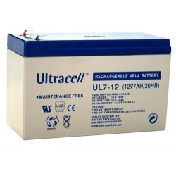 Ultracell UL7-12 12Volts 7Ah/7,2Ah (20hr) lead acid battery accu VRLA VdS 151x65x99mm