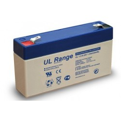 Ultracell UL 6V 1,3Ah 1300mAh lead acid accu battery 97x24x57 mm