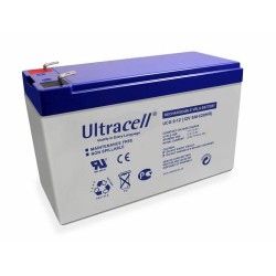 Ultracell UCG9-12 12Volts 9Ah (7Ah) 20hr deep cycle gel lead acid battery VRLA 151x65x99mm