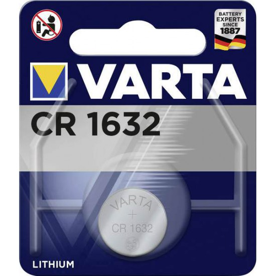 VARTA CR1632 - DL1632 - BR1632 - 6632 3Volts lithium button cell battery