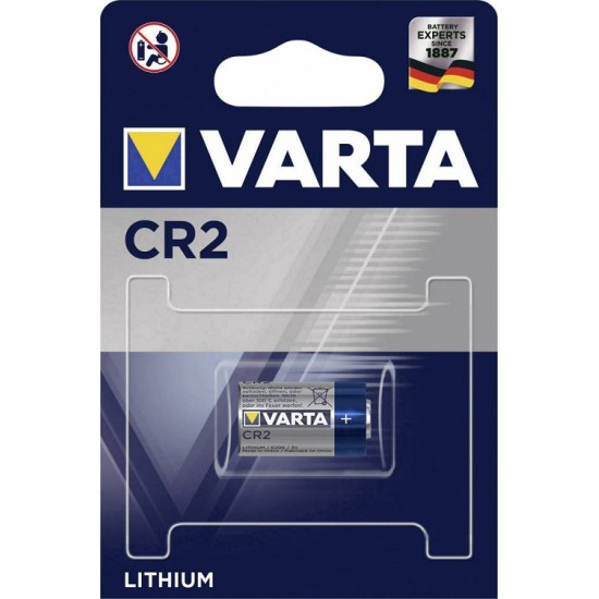 VARTA CR2 - CR17355 - CR15H270 - CR12600 - 5046LC - 6206 3Volt 920mAh lithium battery