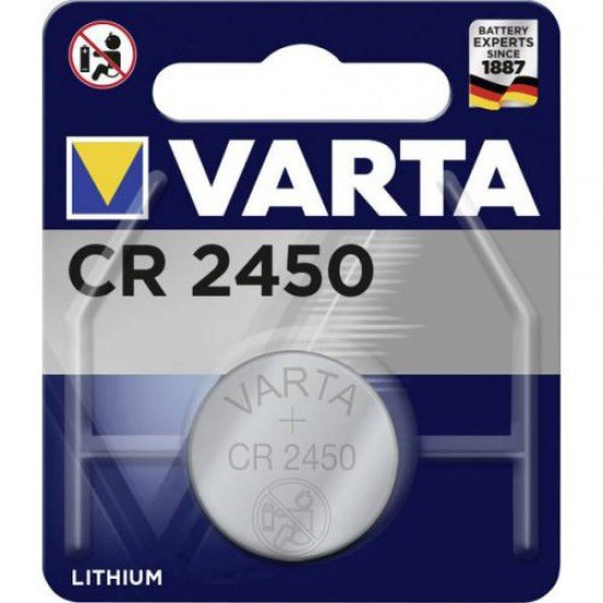 VARTA CR2450 - DL2450 - BR2450 - 6450 - 5029LC 3Volts lithium button cell battery