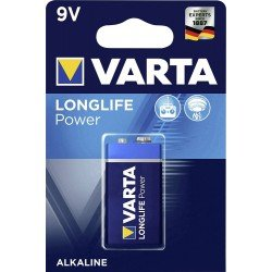 VARTA Longlife Power 9Volts - 6LR61 - E-blok alkaline battery