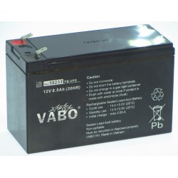 Vabo PB UPS 12V 8,5Ah APC replacement lead acid accu AGM SLA VRLA 151x64x94mm