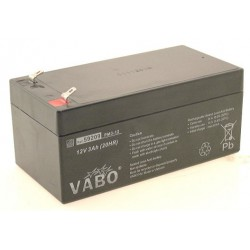Vabo PM3-12 12V 3Ah (20hr) lead acid battery accu SLA 134x67x65mm