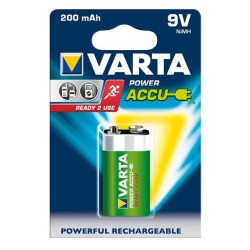 VARTA Ready 2 Use 9Volt (8,4V) 200mAh E-block - HR22 NiMH rechargeable batteries