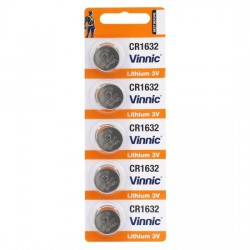 Vinnic 5x CR1632 - DL1632 - K-CR1632 - BR1632 3Volt lithium button cell