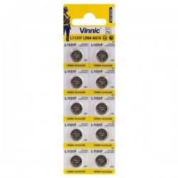 Vinnic 10x AG10, LR54, V10GA, GP89A, LR1130, LR1131 1,5Volt alkaline button cells batteries
