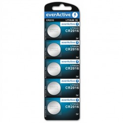 everActive 5x CR2016 - DL2016 - 5000LC 85mAh 3Volts lithium button cells