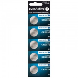 everActive 5x CR2032 - DL2023 210mAh 3Volt lithium buttoncells